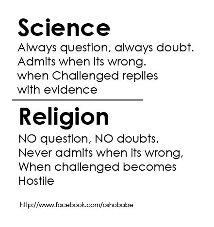 Science vs Religion vs Challenge